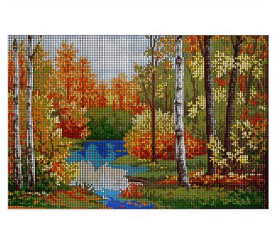 Вышивка крестом пейзажи осень
