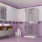 Панель пластиковая Капли Росы (Фиолетовый) 3D, 2700х250 (12 шт/упак)