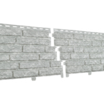 Сайдинг  Кварцит Светло-серый (2000 *250мм)