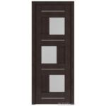Дверное полотно 13Х Венге  900*2000мм стекло матовое