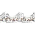 Панель  Фартук Уличное Кафе-1 300х600х1,3мм