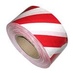 Лента сигнально-оградительная 50мм*100 м/красно- белая