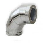 Отвод-сэнд. AISI 430 0,8мм   4х секц. 115/200  90