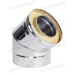 Отвод-сэнд. AISI 430 0,8мм   4х секц. 120/200  90