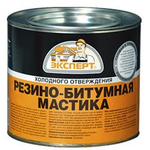 Мастика резино-битумная, 1,8кг Эксперт