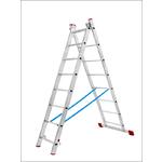 Лестница алюминевая 2*11, вес 10,4 кг,высота 5.6 м