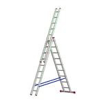 Лестница алюминевая 3*11, вес 16,1 кг   выс 3,10/5,04/7,02   арт 5311