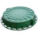 Люк полимернокомпозитный зеленый Тип Л  730*540*50 мм  до  1,5 т