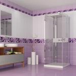Панель пластиковая Капли Росы (Фиолетовый) 3D 2700х250 мм