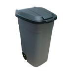 Бак для мусора 110л с крышкой на колесах