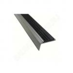 Угол 40х20,0.9м Алюминий с резиновой вставкой (Черная)