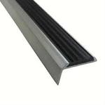 Угол 40х20,1.8м Алюминий с резиновой вставкой (Черная)