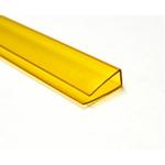 Заглушка для поликарбоната  10мм , 2,1м Жёлтая