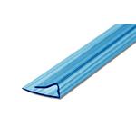Заглушка для поликарбоната 6мм, 2,1м синий