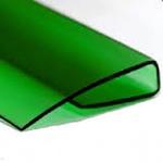 Заглушка для поликарбоната 16мм , 2,1м Зелёная