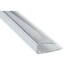 Заглушка для поликарбоната 4мм, 2,1м Прозрачная