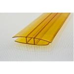Соединитель поликарбоната ,6м Жёлтый 10мм