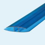 Соединитель поликарбоната ,6м Синий10мм