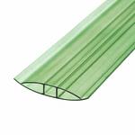 Соединитель поликарбоната ,6м, Зеленый 4мм