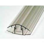 Соединитель поликарбоната (база+крышка) ,6м Серый  20мм