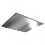 Плита к подвесному  потолку  металлическая ХРОМ 600x600 мм