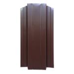 ЕВРОШТАКЕТНИК для забора двусторонний ПЭ 124мм  8017 коричневый