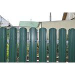 ЕВРОШТАКЕТНИК  М для забора  двусторонний ПЭ 110 мм  6005 зеленый