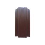 ЕВРОШТАКЕТНИК  М для забора двусторонний ПЭ 110мм   8017 коричневый