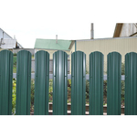 ЕВРОШТАКЕТНИК  М для забора односторонний  ПЭ 110 мм  6005 зеленый