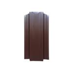 ЕВРОШТАКЕТНИК для забора ОДНОСТОРННИЙ  ПЭ 124мм 8017 коричневый