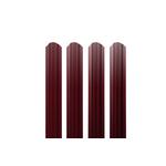 ЕВРОШТАКЕТНИК для забра односторонний ПЭ 103 мм 3005 красный