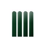 ЕВРОШТАКЕТНИК для забора  односторонний  ПЭ 103 мм  6005 зеленый