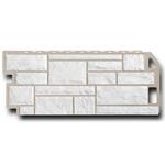 Фасадная панель  FineBeer Камень мелованный Белый 1137х470мм