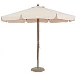 Зонт Бежевый Деревянный