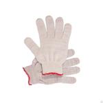 Перчатки рабочие ХБ 4нити 7 кл  белые без ПВХ