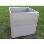 Компостер садовый пластиковый 1000л (стенка+комплект углов ) Серый