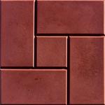 Плитка тротуарная 300*300*30 мм Калифорния текстурированная коричневая