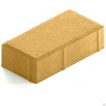 Брусчатка КИРПИЧ 200*100*45 мм желтая Тверь