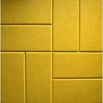 Плита тротуарная  8 камней 400*400*50 мм желтая Тверь