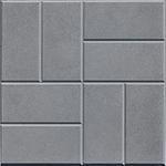 Плита тротуарная  8 камней 400*400*50 мм серая Тверь