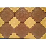 Плитка тротуарная Гжелка 45мм желтая /коричневая Тверь (11шт+11шт)