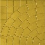 Плита тротуарная  Паутина  350*350*50 мм желтая Тверь