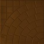 Плита тротуарная  Паутина  350*350*50 мм шоколад Тверь