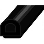 Уплотнитель  D профиль  14*12  Чёрный  (40м)