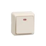 Выключатель 1-кл. ОП ОКТАВА с инд. 10А IP20 ВС20-1-1-ОКм крем. ИЭК EVO11-K33-10-DC
