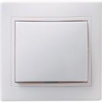 Выключатель 1-кл. СП КВАРТА 10А IP20 ВС10-1-0-КБ бел. ИЭК EVK10-K01-10-DM
