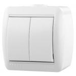 710-0200-101 Выключатель 2-ной белый о/п