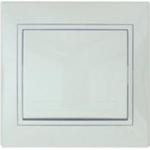 701-0202-100 Выключатель белый с белой вставкой с/п