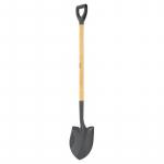 Лопата для сыпучих грузов 215х290х1340мм деревянный лакированный черенок/Сибртех