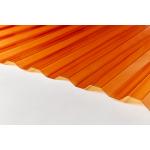Поликарбонат профилированный  (Кровельный) 1050х4600х1.3мм Оранжевый